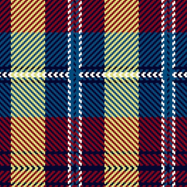 Muster Des Schottischen Tartan Lose Puzzlespiele