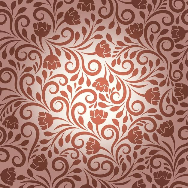 Nahtloses vektorblumenmuster. blumendesign, dekorationsverzierung, texturpflanze und dekorative naturillustration Kostenlosen Vektoren