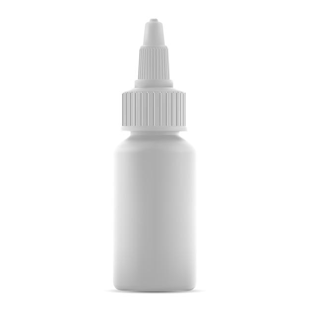 Nasentropfflasche isoliert. flüssigmedizin-arzneimittelbehälter. Premium Vektoren