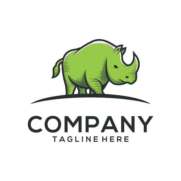 Nashorn-logo-vektor Premium Vektoren