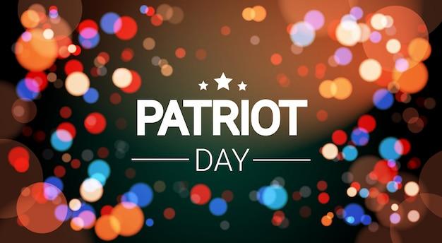 Nationaler usa-patriot-tag vereinigte staaten feiertags-feuerwerks-fahne Premium Vektoren