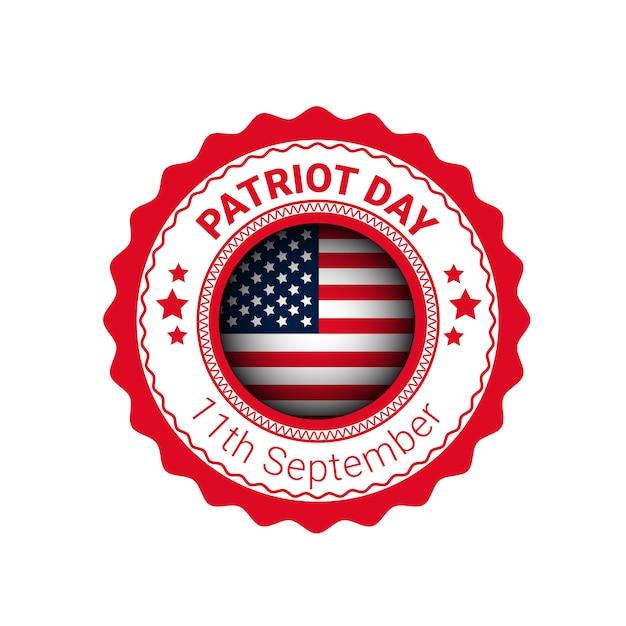 Nationaler usa-patriot-tag vereinigte staaten kennzeichnen fahne Premium Vektoren