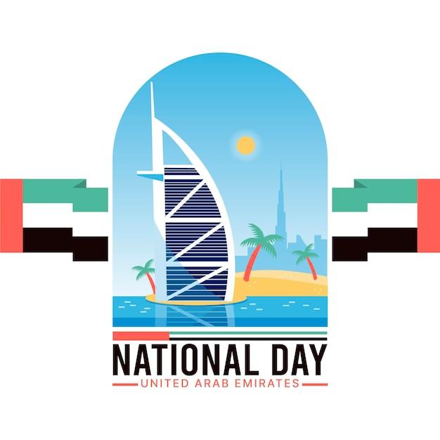 Nationalfeiertag der vereinigten arabischen emirate Premium Vektoren