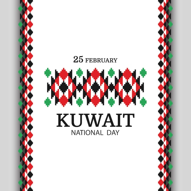Nationalfeiertag kuwait. nationales muster. Premium Vektoren