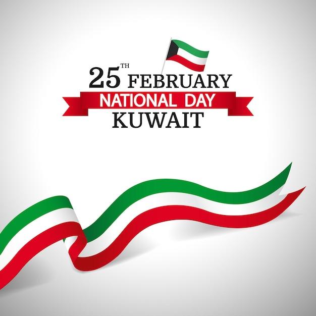 Nationalfeiertag kuwait. Premium Vektoren