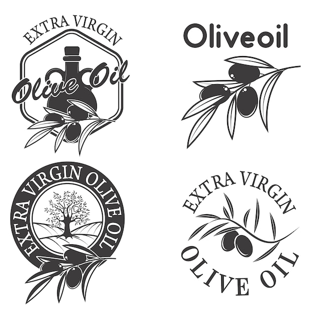 Natives olivenöl extra etikettiert. Premium Vektoren