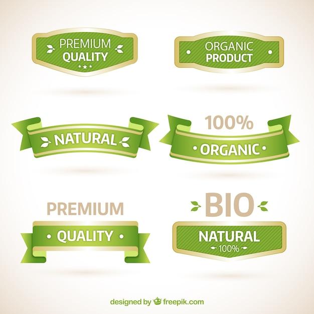 Natürliche banner Premium Vektoren