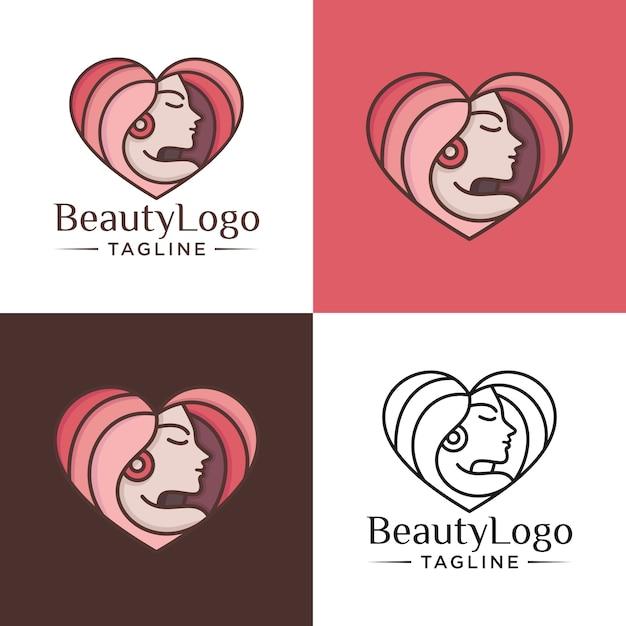 Natürliche schönheit logo vorlage Premium Vektoren