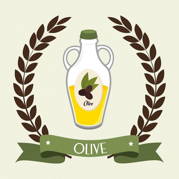 Natürliches olivenöl Kostenlosen Vektoren