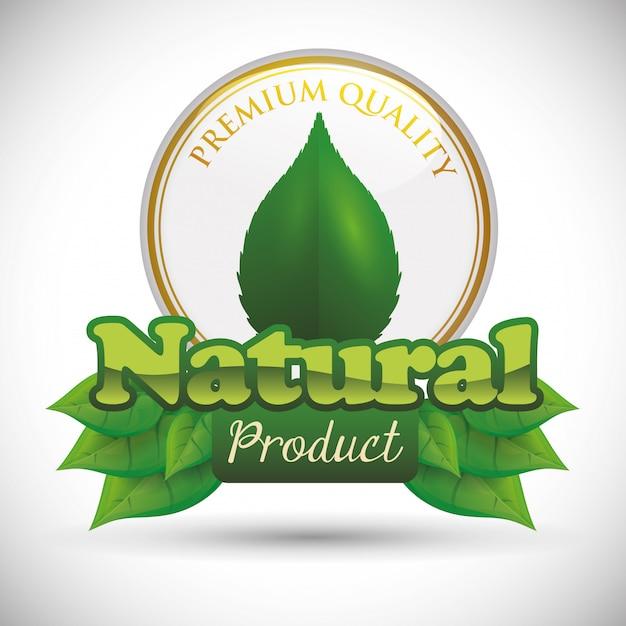 Natürliches produktdesign Premium Vektoren