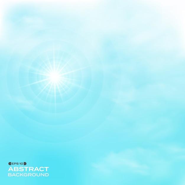 Natur der wolken stellte auf muster backgroud des blauen himmels ein. Premium Vektoren