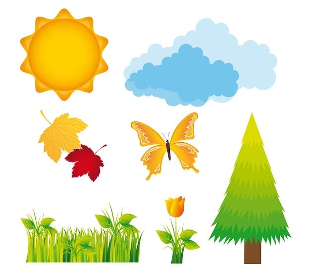 Natur design-elemente Premium Vektoren