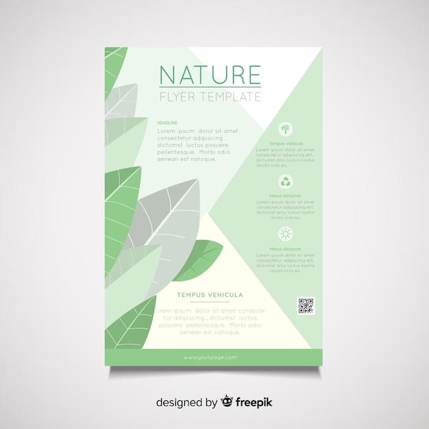 Natur-flyer-vorlage Kostenlosen Vektoren