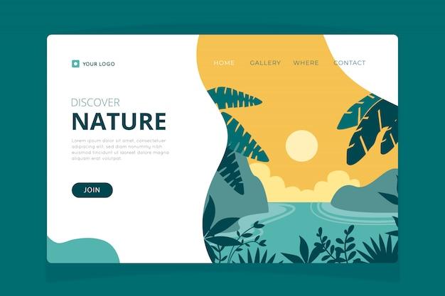 Natur-landing-page-vorlage Kostenlosen Vektoren