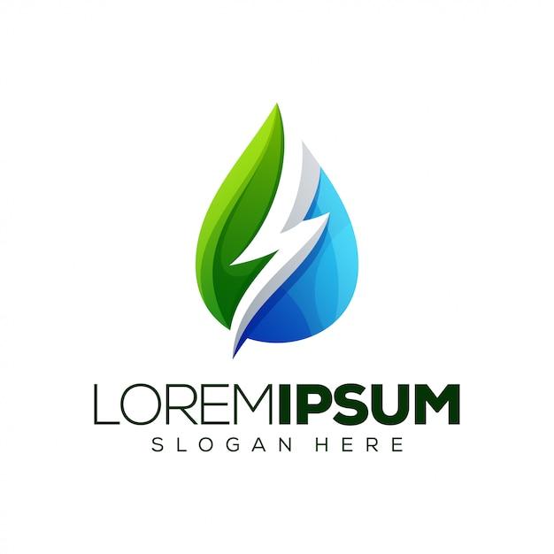 Natur logo vorlage Premium Vektoren