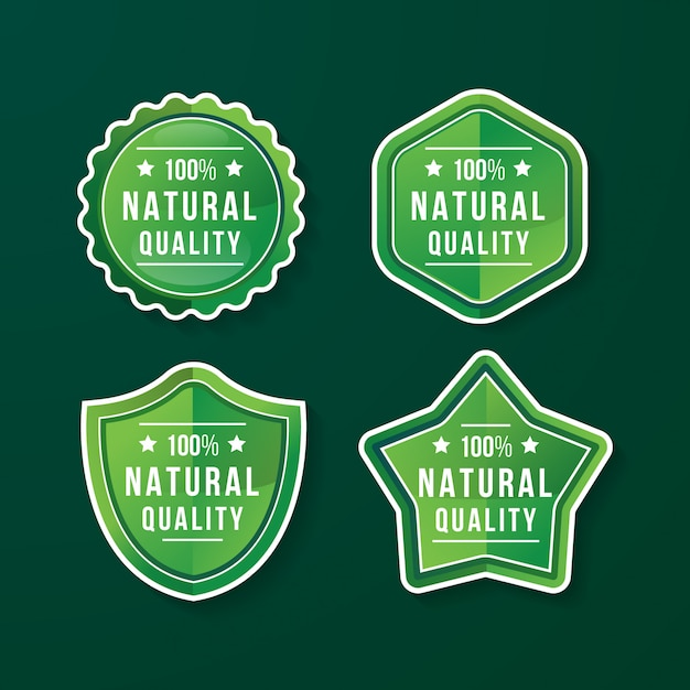 Natural quality badge Premium Vektoren