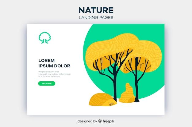 Nature landing page Kostenlosen Vektoren
