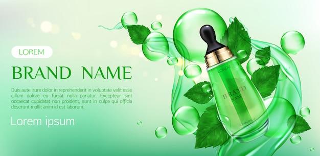 Naturkosmetik hautpflege creme beauty-produkt Kostenlosen Vektoren