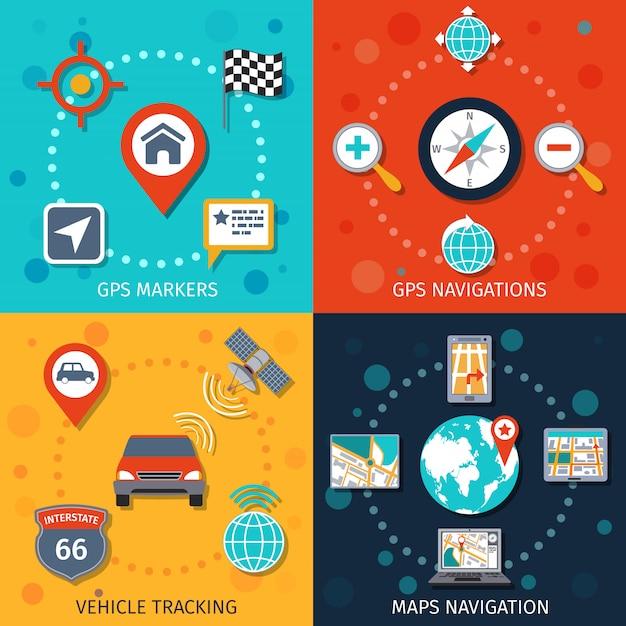Navigationselement-zusammensetzungs-satz Kostenlosen Vektoren