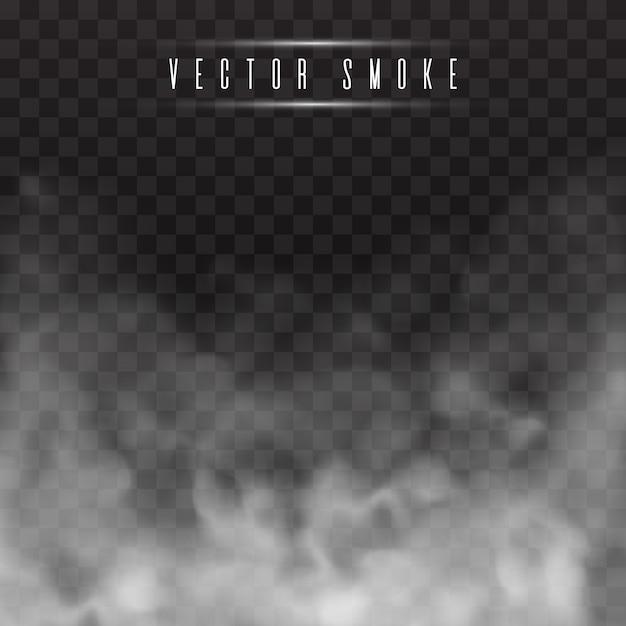 Nebel oder rauch trennten transparenten spezialeffekt. Premium Vektoren