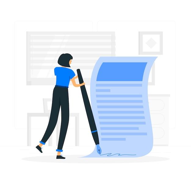 Nehmen sie begriffgesetz-illustrationskonzept an Kostenlosen Vektoren