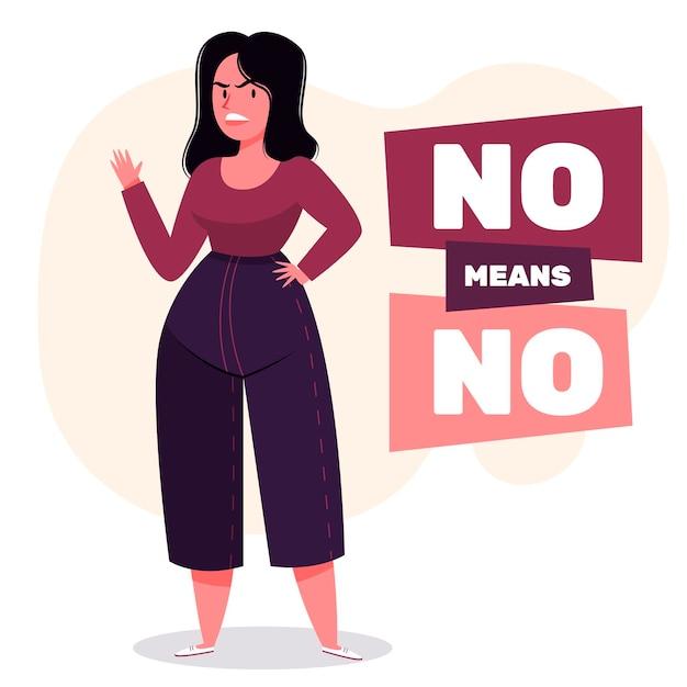 Nein bedeutet kein konzept Kostenlosen Vektoren