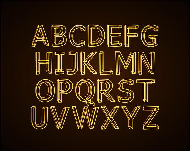 Neon alphabet. Premium Vektoren