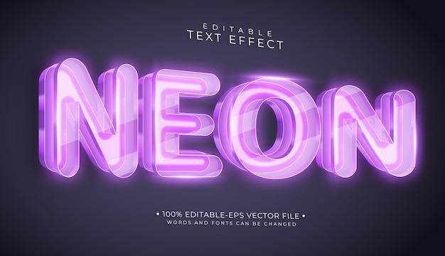 Neon bearbeitbarer texteffekt an der wand Premium Vektoren