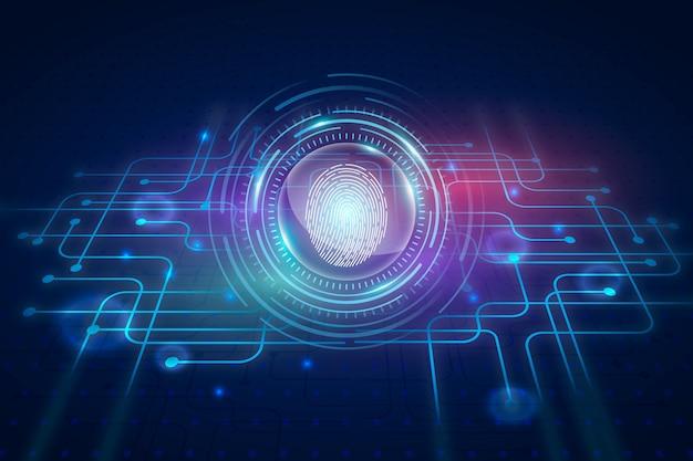 Neon fingerabdruck hintergrund Kostenlosen Vektoren