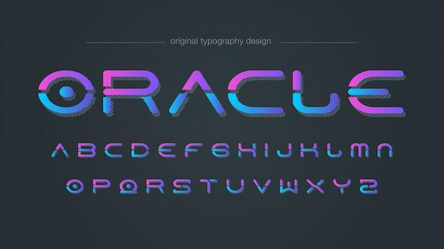 Neon futuristic style typografie Premium Vektoren
