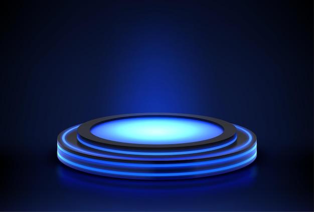 Neon podium Kostenlosen Vektoren