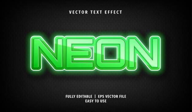 Neon-texteffekt, bearbeitbarer textstil Premium Vektoren