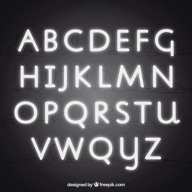 Neon typografie Kostenlosen Vektoren