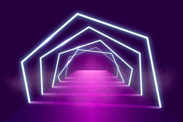 Neonlichtbühnenhintergrund Kostenlosen Vektoren