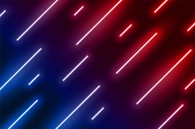 Neonlichteffekt zeigt linie in diagonaler richtung Kostenlosen Vektoren