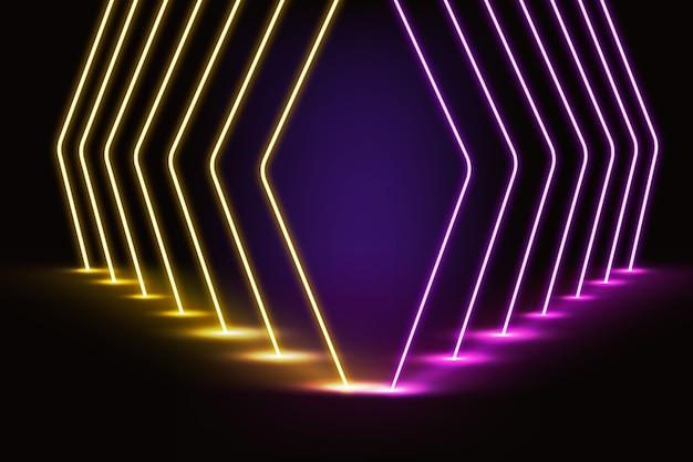 Neonlichter hintergrund Kostenlosen Vektoren