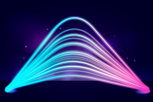 Neonlichter hintergrunddesign Kostenlosen Vektoren