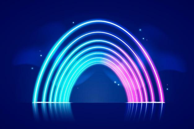 Neonlichter tapetenthema Kostenlosen Vektoren
