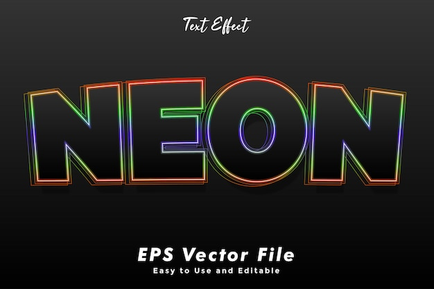 Neontexteffekt. Premium Vektoren