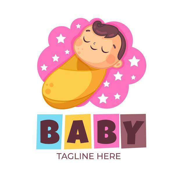 Nette baby-logo-vorlage Kostenlosen Vektoren