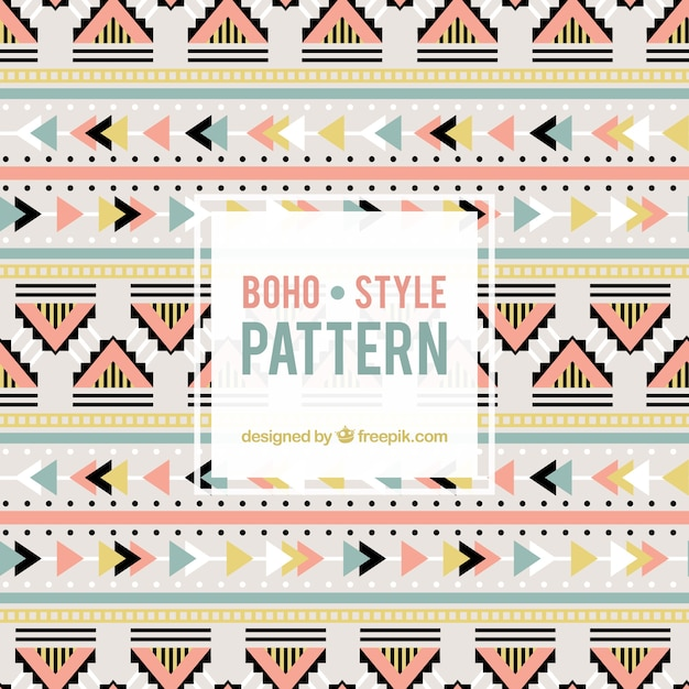Nette Farben Boho Muster | Download der kostenlosen Vektor