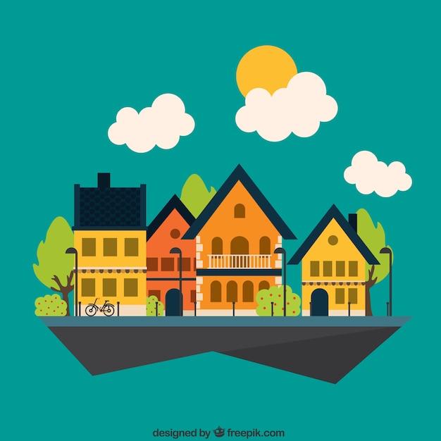 Nette Nachbarschaft | Download der kostenlosen Vektor