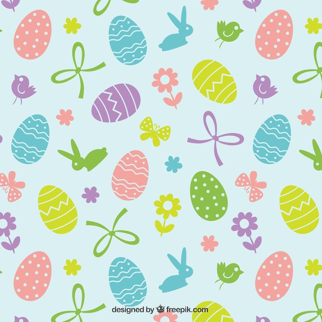 Nette Ostern Muster Download Der Kostenlosen Vektor