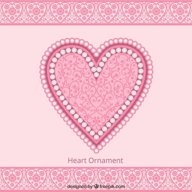 Nette rosa herz ornament hintergrund download der for Ornament tapete rosa
