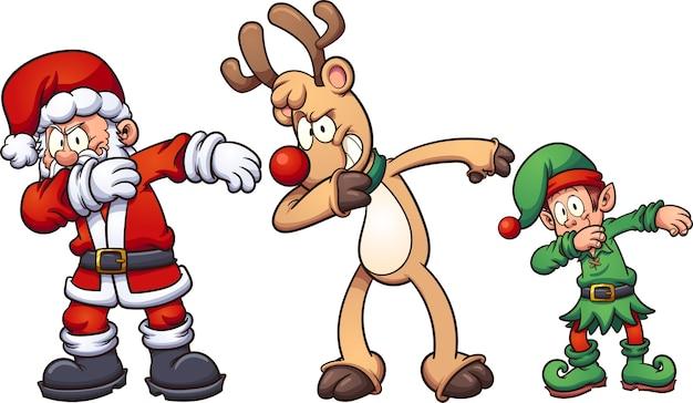 Nette Weihnachtsfiguren   Download der Premium Vektor