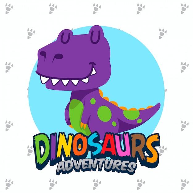 Netter dinosaurier-vektorsatz Premium Vektoren
