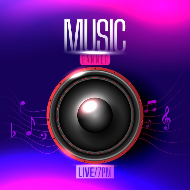 Netter musikalischer unschärfehintergrund mit noten Premium Vektoren