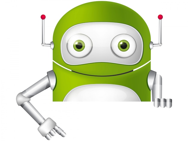 Netter roboter Premium Vektoren
