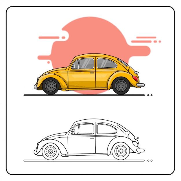 Nettes auto leicht editierbar Premium Vektoren