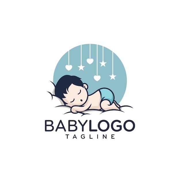 Nettes baby logo design vector Premium Vektoren